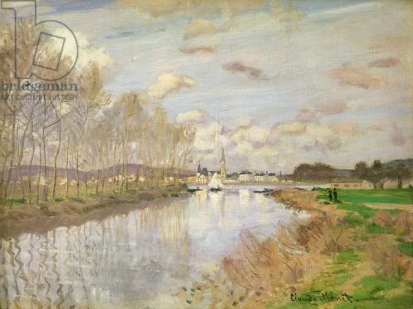 The Yacht at Argenteuil, 1875 (oil on canvas)