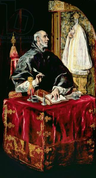 St. Ildefonsus, 1597-1603 (oil on canvas)