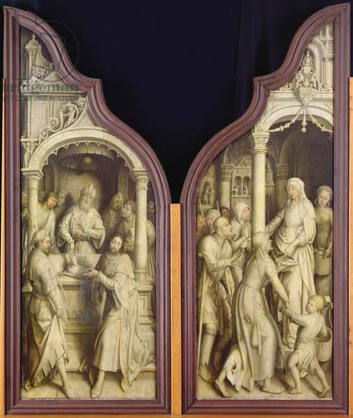 St. Joachim and St. Anne, from the Triptych of the Immaculate Conception (oil on panel)