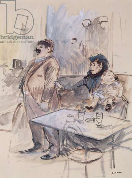 Absinthe, c.1885 (w/c and gouache on paper)