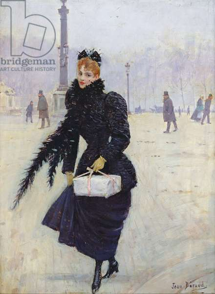 Parisian woman in the Place de la Concorde, c.1890 (oil on canvas)