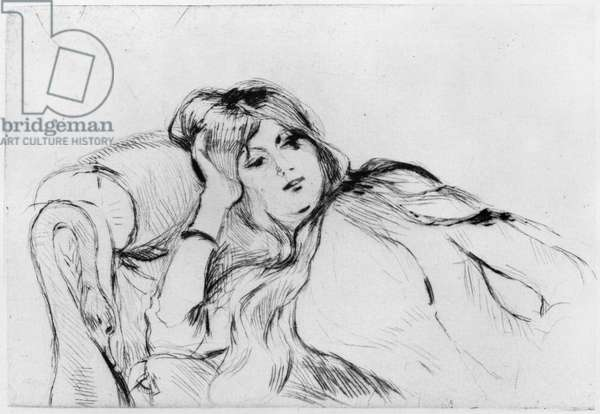 Young woman at rest, 1889 (drypoint)