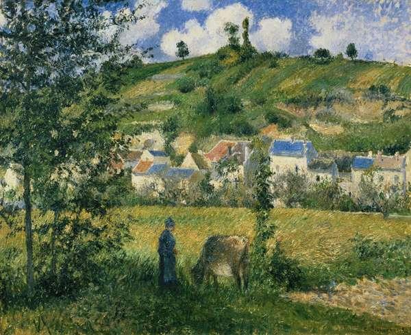 Landscape at Chaponval, 1880 (oil on canvas)