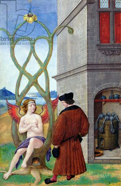 Dialogue between the Alchemist and Nature, 1516 (vellum)