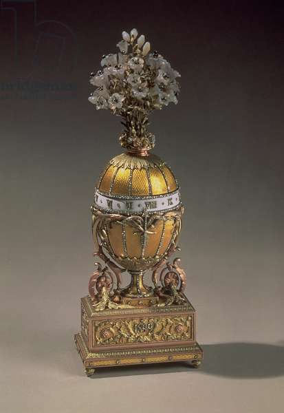 Easter Egg in the Form of a Vase Containing Flowers, 1899 (metal & enamel)