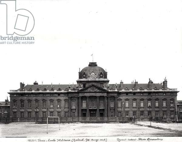 Facade and dome of the Ecole Militaire, built 1751-73 (b/w photo)