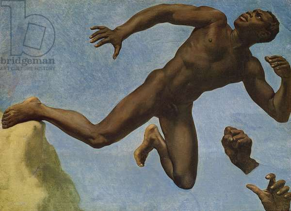 Study of a Nude Negro, 1838 (oil on canvas)
