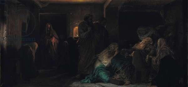The Virgin Fainting, 1856 (oil on canvas)