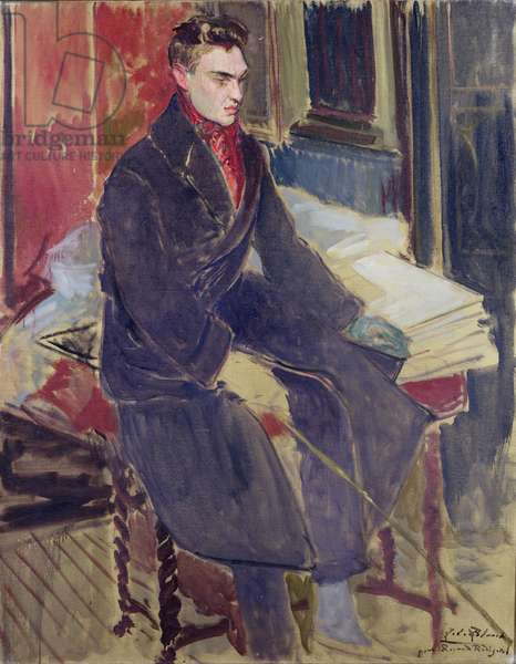 Portrait of Raymond Radiguet (1903-23) (oil on canvas)