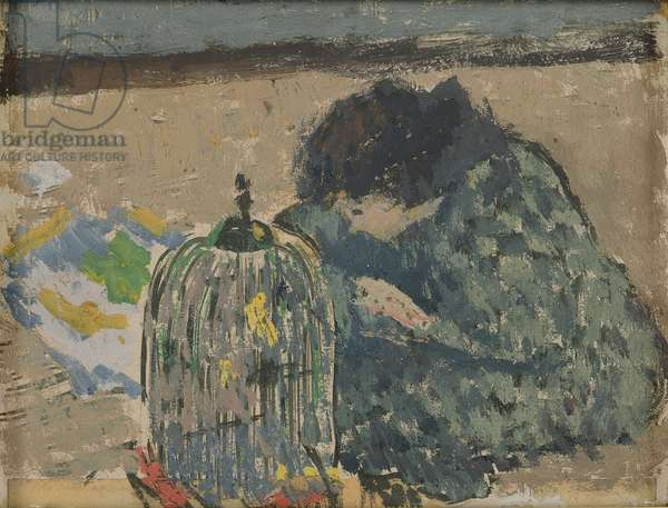 Woman with a canary, c.1892-94 (oil on card)