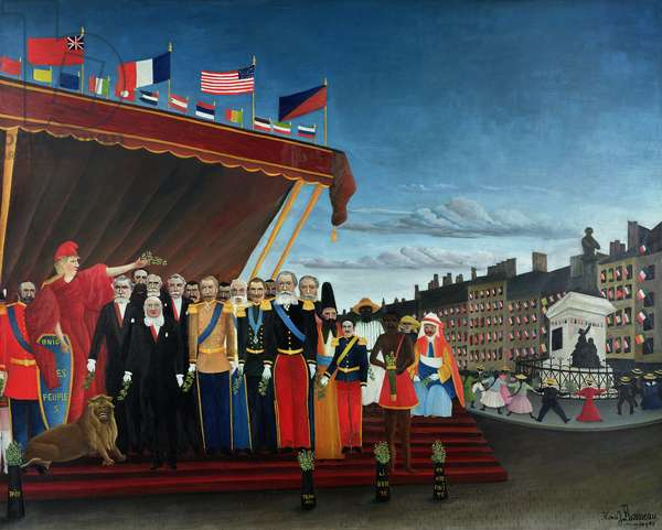The Representatives of Foreign Powers Coming to Salute the Republic as a Sign of Peace, 1907 (oil on canvas)