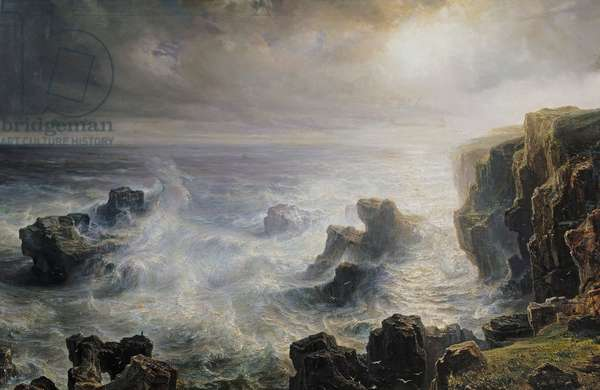 Storm off the Coast of Belle-Ile (oil on canvas)