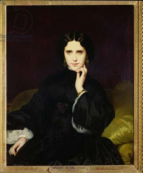 Portrait of Jeanne de Tourbay (1837-1908) 1862 (oil on canvas)