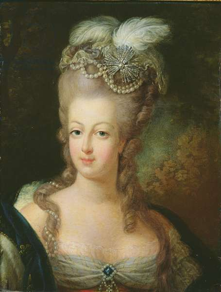 Portrait of Marie-Antoinette de Habsbourg-Lorraine (1755-93) (oil on canvas)