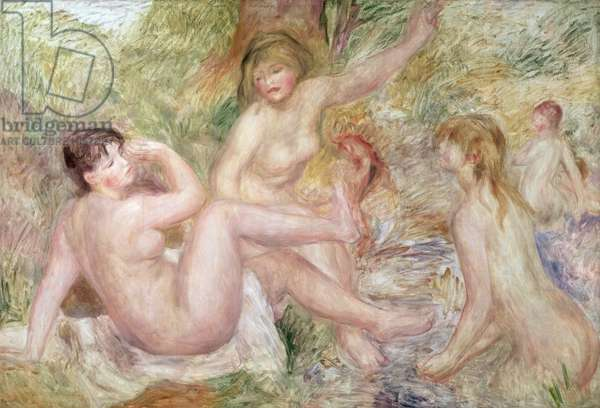 Study for the Large Bathers, 1885-1901 (oil on canvas)