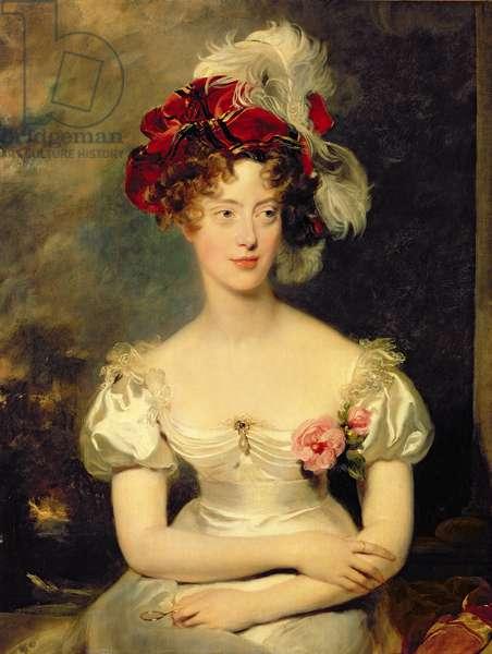 Marie-Caroline de Bourbon (1798-1870) Duchesse de Berry, c.1825 (oil on canvas)