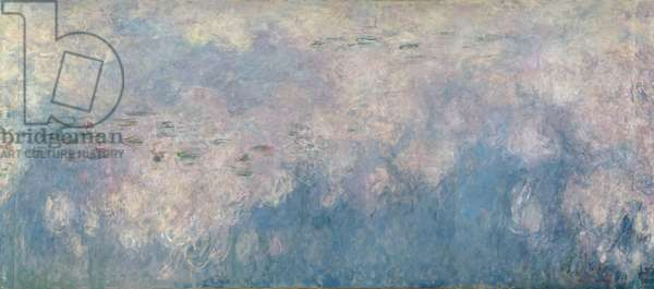 The Waterlilies - The Clouds (central section) 1915-26 (oil on canvas) (see also 64184 & 64186)