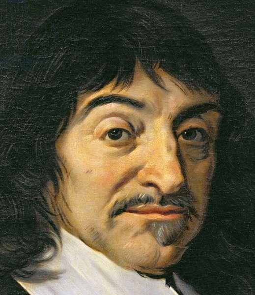 Portrait of Rene Descartes (1596-1650) c.1649 (oil on canvas) (detail of 32939)