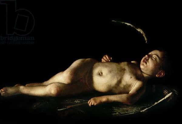 Sleeping Cupid, 1608 (oil on canvas)