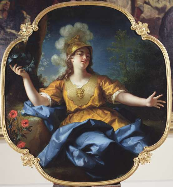 Portrait of a Woman as Minerva, 1730 (oil on canvas)