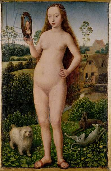 Vanity, central panel from the Triptych of Earthly Vanity and Divine Salvation, c.1485 (oil on panel)