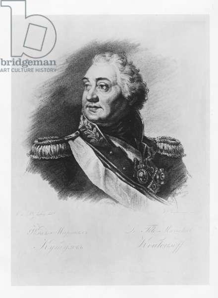 Prince Mikhail Illarionovich Golenischev-Kutuzov (litho)
