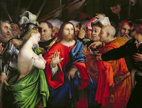 Christ and the Adulteress, c.1527-29 (oil on canvas)