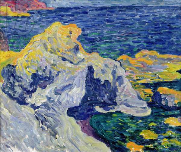 The Rocks at Antheor (Var) 1900 (oil on canvas)