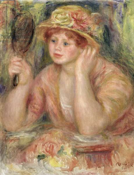 Woman with a Mirror, c.1915 (oil on canvas)