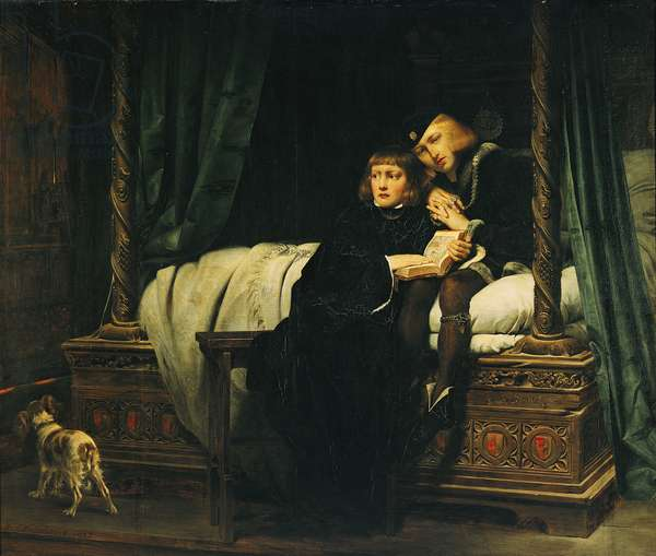 Edward V (1470-83) and Richard, Duke of York in the Tower (Les Enfants d'Edouard) 1830 (oil on canvas) (see 61867 for 1831 version in Wallace Collection)