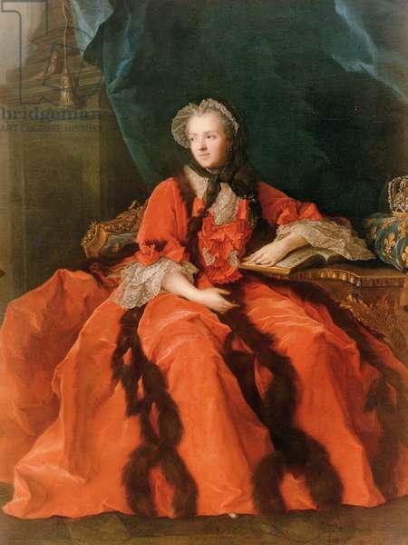 Portrait of Maria Leszczynska (1703-68) 1762 (oil on canvas)