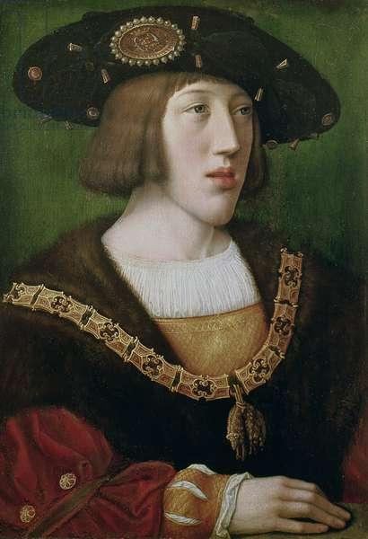 Portrait of Charles V (1500-58) 1516 (oil on panel)