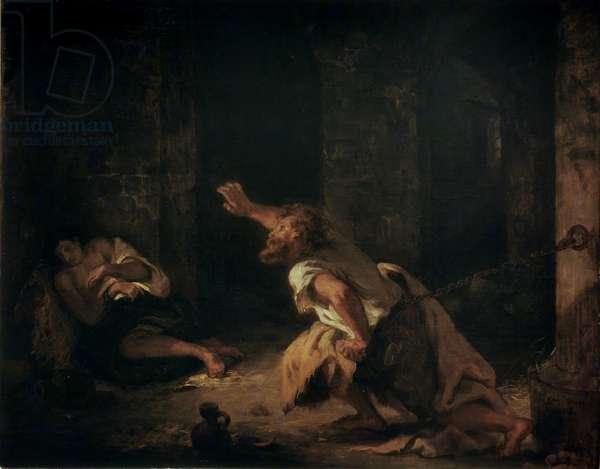 The Prisoner of Chillon, 1834 (oil on canvas)