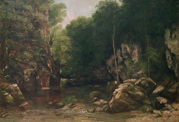 The Covered Stream, or The Dark Stream, 1865 (oil on canvas)