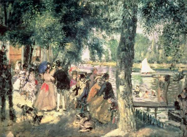 Bathing on the Seine or, La Grenouillere, c.1869 (oil on canvas)