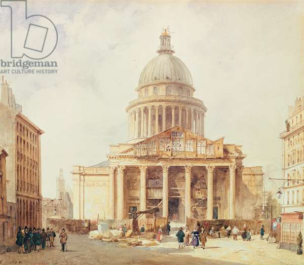 The Pantheon in 1835 (w/c on paper)