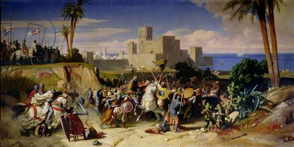 The Taking of Beirut by the Crusaders in 1197, 1842 (oil on canvas)