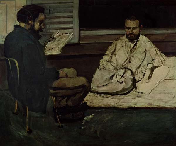 Paul Alexis (1847-1901) Reading a Manuscript to Emile Zola (1840-1902) 1869-70 (oil on canvas)