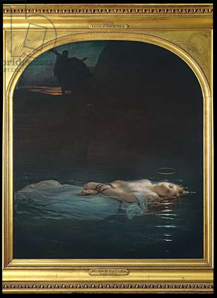 The Young Martyr, 1855 (oil on canvas)