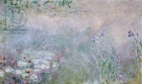 Waterlilies (detail of upper section), c.1910 (oil on canvas)