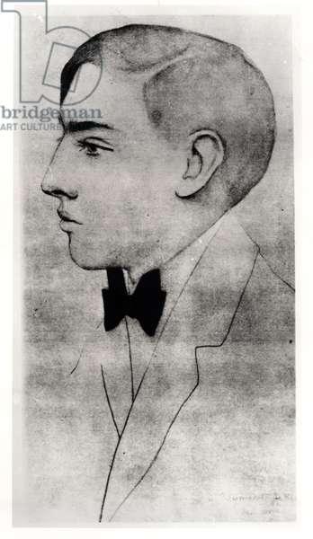 Portrait of Raymond Radiguet (1903-23) (pencil on paper)