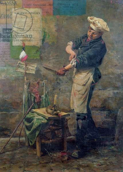 Rat Seller during the Siege of Paris, 1870 (oil on canvas)