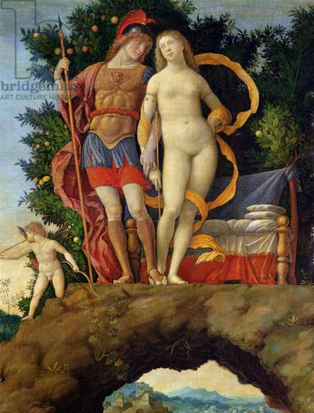 The Parnassus, detail of Venus and Mars (oil on canvas)