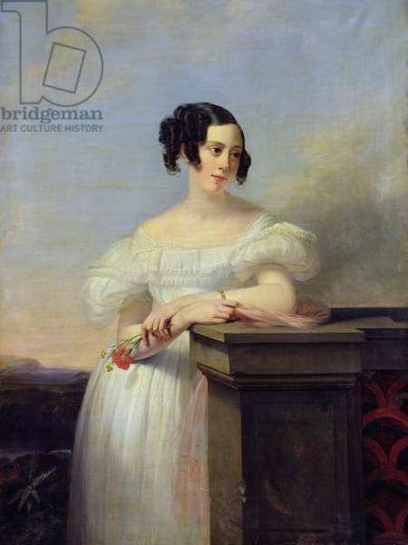 Portrait of Madame Vaussard (oil on canvas)