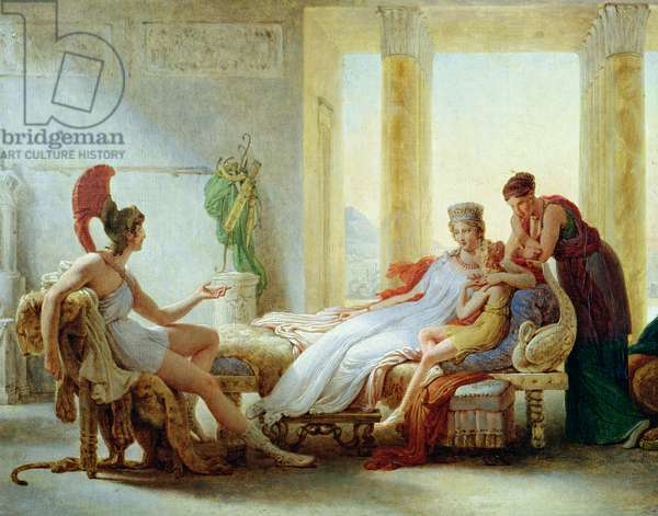 Aeneas telling Dido of the Disaster at Troy, 1815 (oil on canvas)