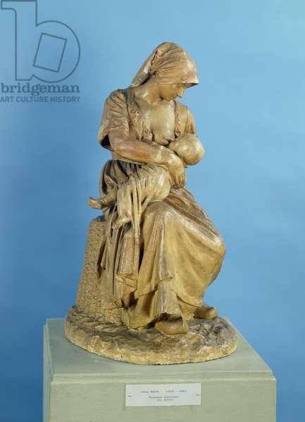 Peasant Woman Feeding her Child (plaster)