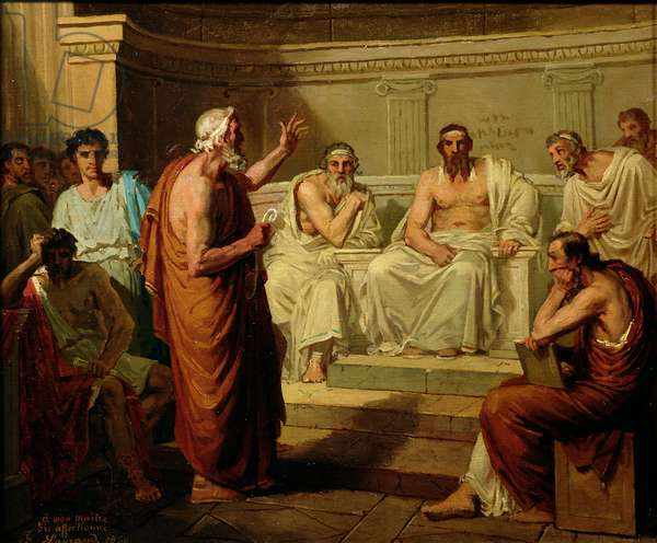 Sophocles Accused by his Sons, 1860 (oil on canvas)