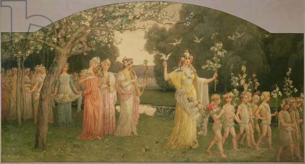 Procession of Flora, 1897 (w/c on paper)