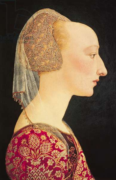 Portrait of a Lady in Red, 1460-70 (oil & tempera on panel)