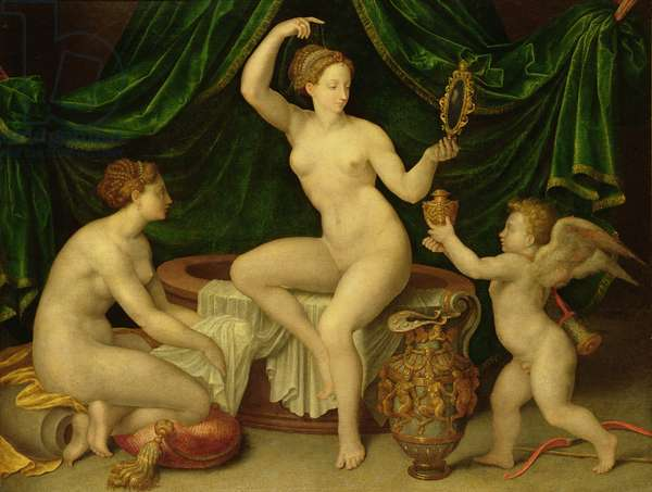 Venus at her Toilet (oil on canvas)